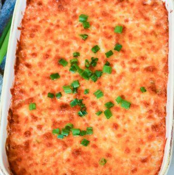 Hot Corn Dip in a casserole