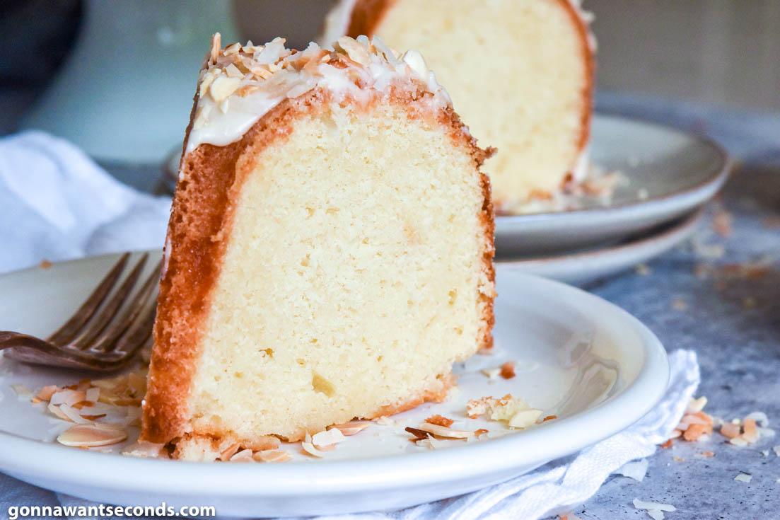 A slice of Louisiana Crunch Cake