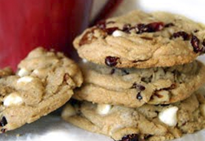 My Favorite Cranberry, White Chocolate Chip and Pecan Cookies