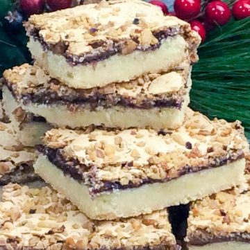 Yugoslavian Christmas Cookies stacked on top of each other