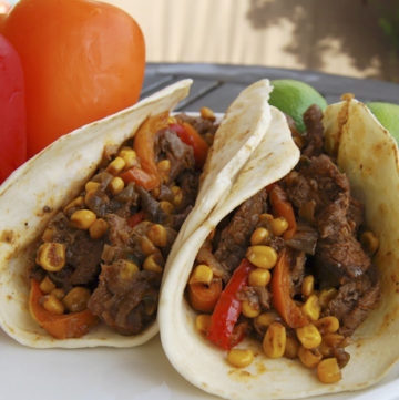 This awesome Steak Tacos fills up every hungry tummy with every bite. It's beefy, tender, and juicy and one of the taco treats you can count on when you're in a pinch!