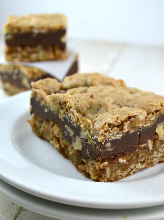 Chocolate Oatmeal Almost-Candy Bars