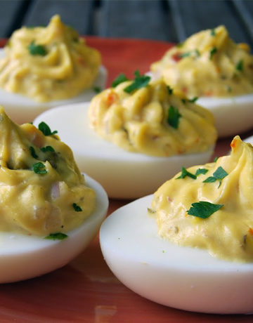 West Coast Deviled Eggs
