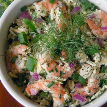 Roasted Shrimp and Orzo