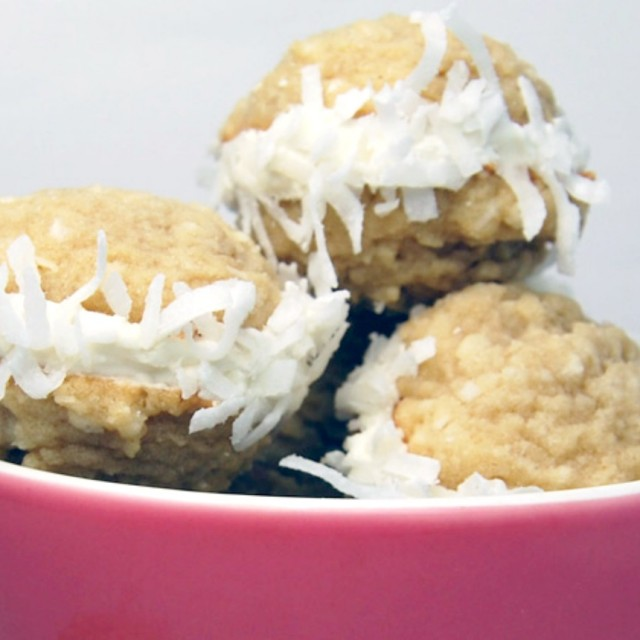 Coconut Cookie Sandwiches