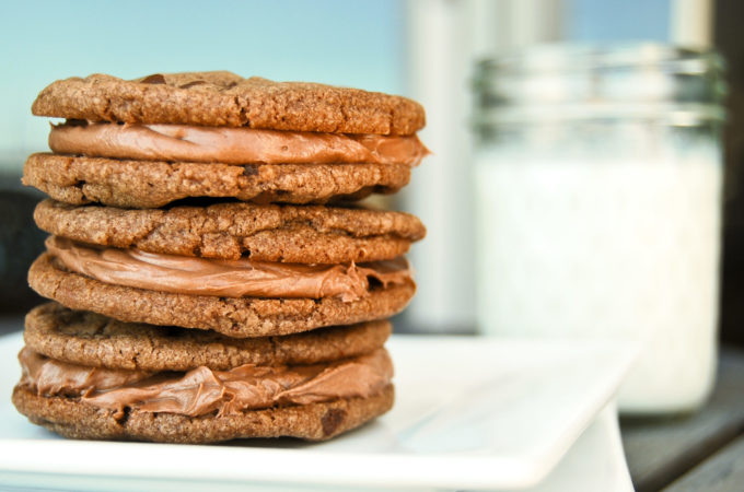 Nutella Cookies with Nutella Cream Filling