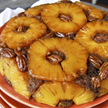 Brown Sugar and Rum Pineapple Upside Down Cake