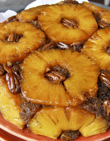 Brown Sugar and Rum Pineapple Upside Down Cake