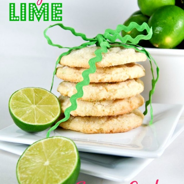 Chewy Coconut-Lime Sugar Cookies - Gonna Want Seconds