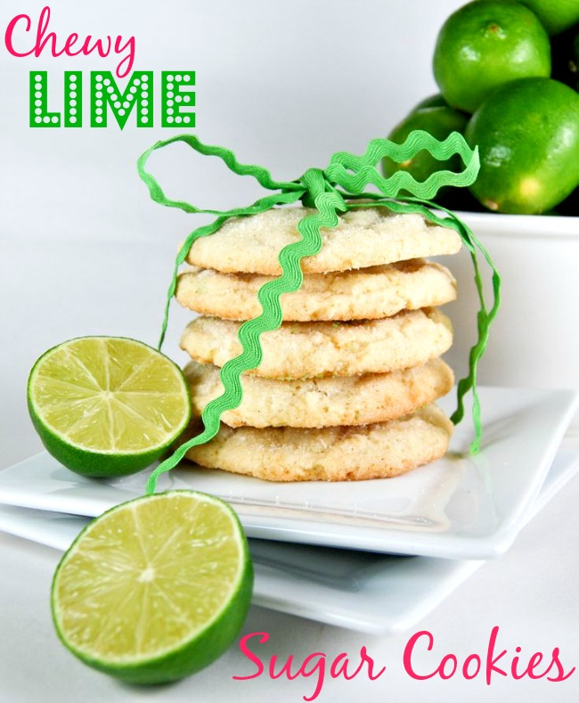 Chewy Coconut-Lime-Sugar-Cookies