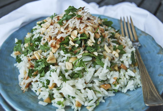 Coconut Rice Loaded with Goodies!