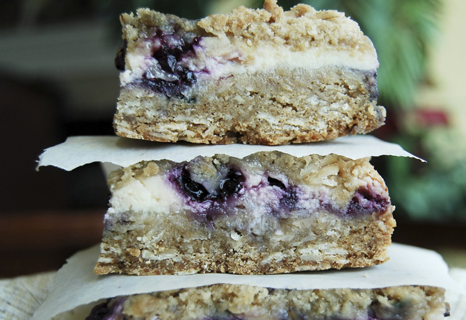 Blueberry Lemon Cream Bars
