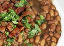 Drunken Mexican Beans with Cilantro and Bacon