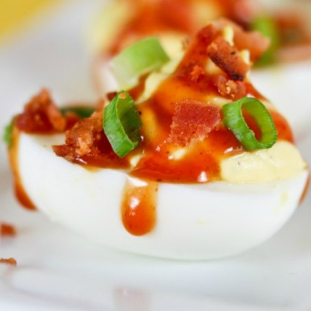 Barbecue Bacon Ranch Devil Egg