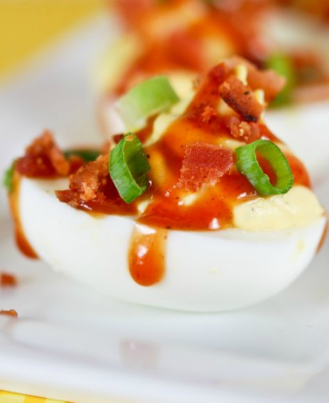 Barbecued Ranch Deviled Eggs