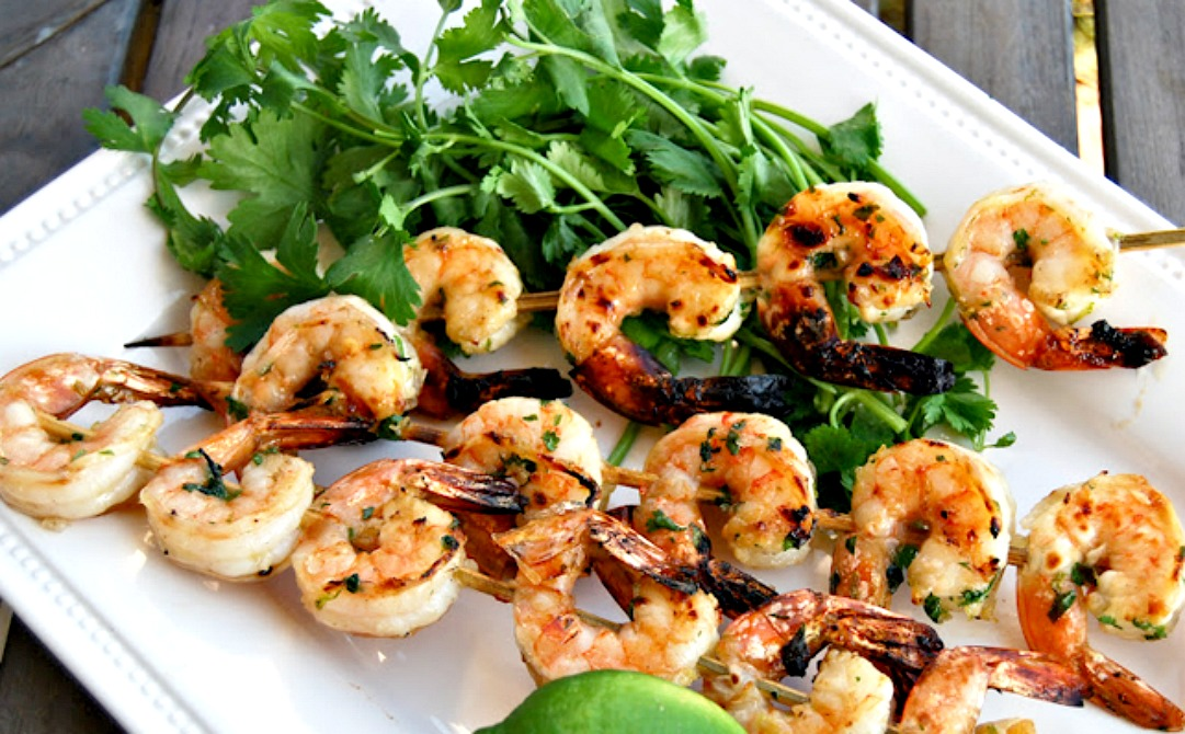 Grilled Brined Shrimp With Garlic Oil Recipes — Dishmaps