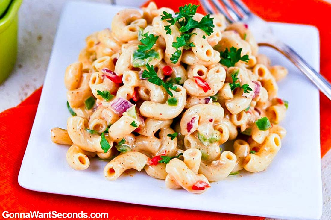 Pasta Salad Recipes: Southern Macaroni Salad on a plate