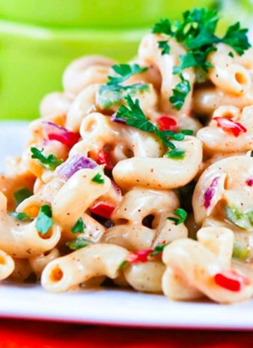 Southern Macaroni Salad on a plate