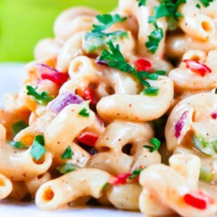 Southern Macaroni Salad on a plate