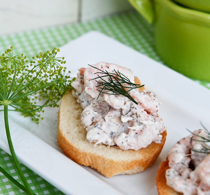 Shrimp Salad Toasts