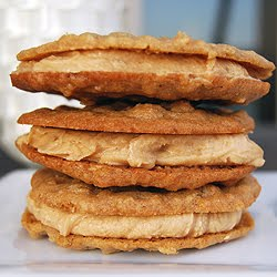 Oatmeal Peanut Butter Cookies stack on top of each other