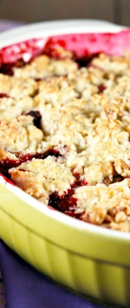 Blackberry Cobbler with a Cookie Cobbler