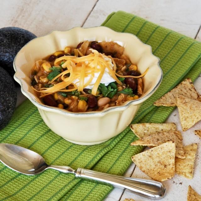 Chicken + Bean Chili Verde
