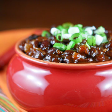 Ancho Maple Baked Black Beans