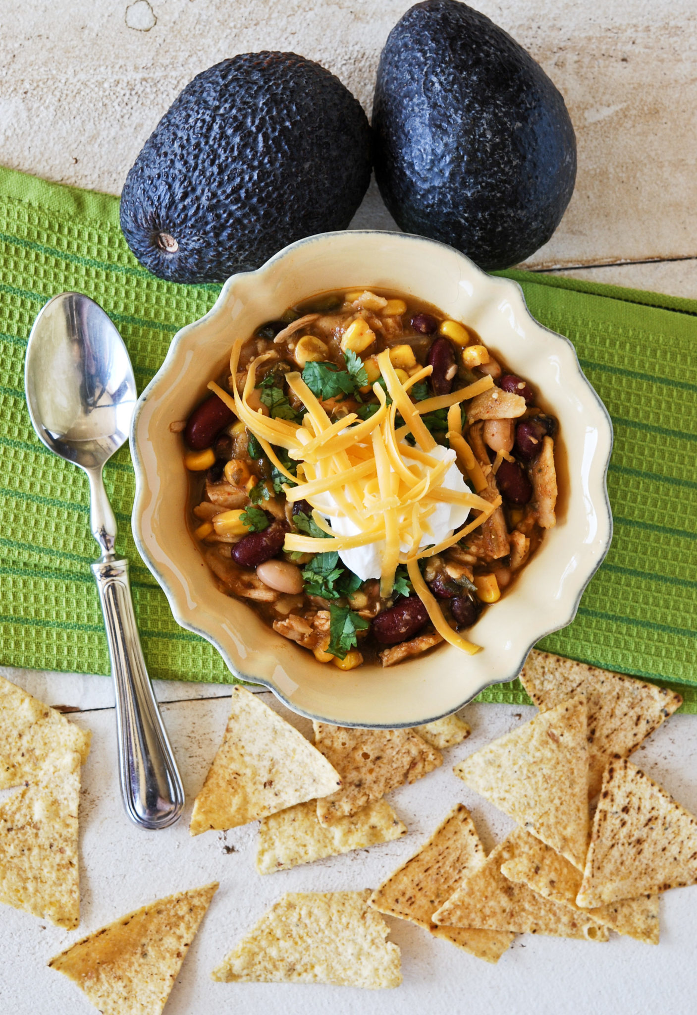 Chicken and Bean Chili Verde