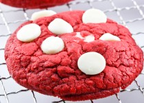 Red Velvet White Chocolate Chips Cookies