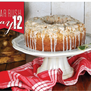 Eggnog Crumb Coffee Cake-With An Eggnog Glaze