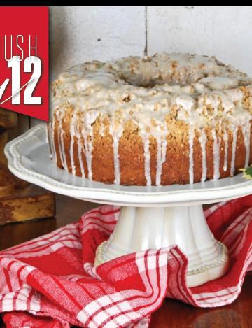Eggnog Crumb Coffee Cake-With An Eggnog Glaze