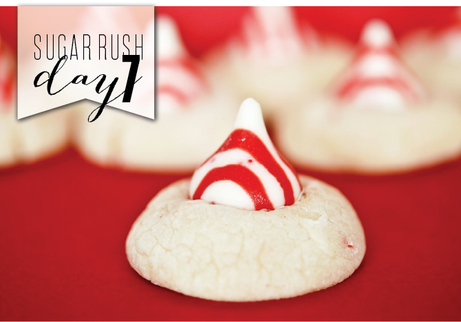 Peppermint Candy Cane Kiss Cookies