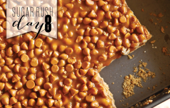 sugar rush day 8 - gooey caramel butterscotch cashew bars