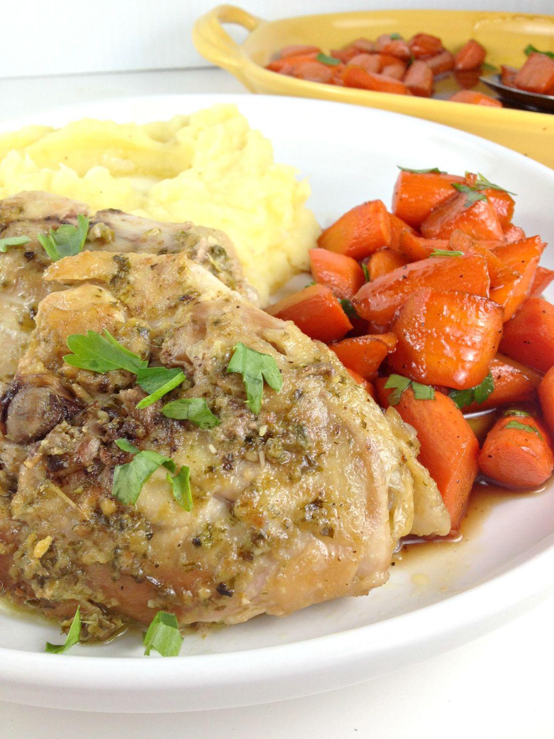 Pesto Ranch Crock Pot Chicken