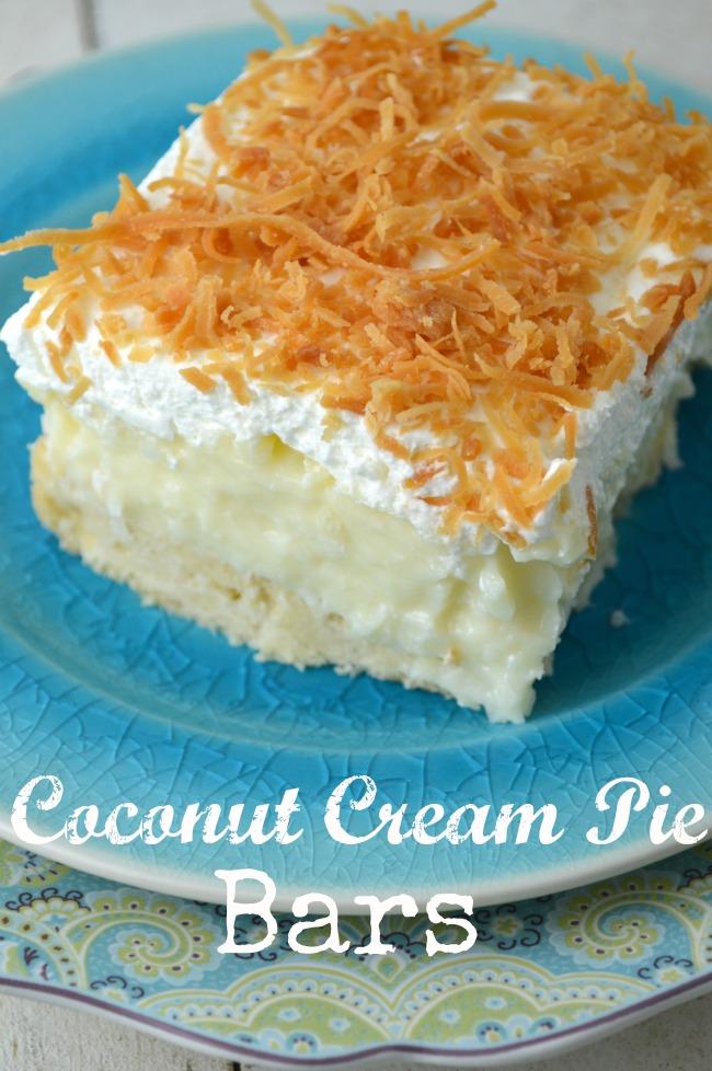 Coconut Cream Pie Bars - Gonna Want Seconds