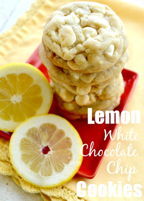Lemon White Chocolate Cookies 1