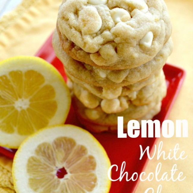Lemon White Chocolate Chip Cookies - Gonna Want Seconds