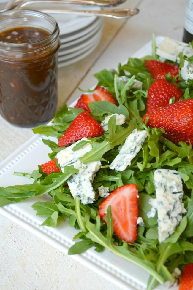 Arugula, Strawberry, Blue Cheese Salad