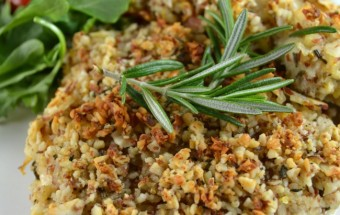 Baked Almond, Rosemary Chicken
