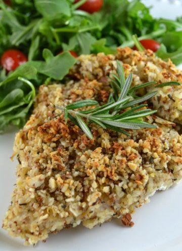 Baked Almond, Rosemary Chicken