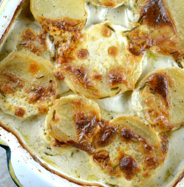 Boursin Cheese Scalloped Potatoes