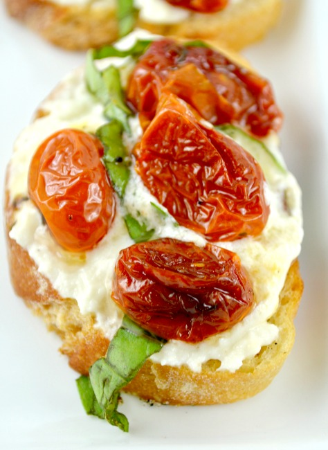 Honey Roasted Tomato Bruschetta - Gonna Want Seconds