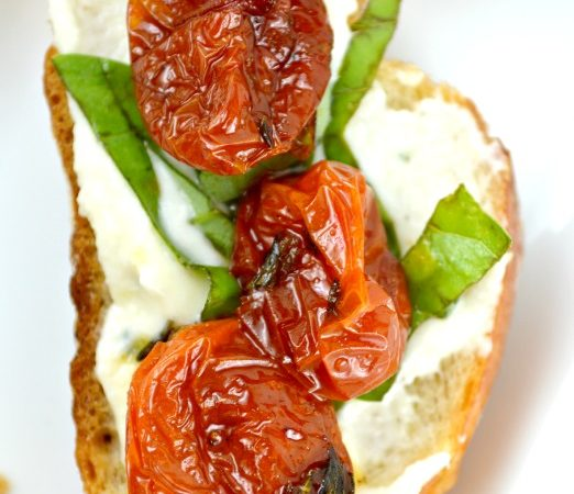 Honey Roasted Tomato Bruschetta