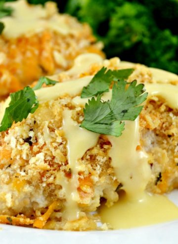 Crispy Oven Baked Ritz Cheesy Chicken