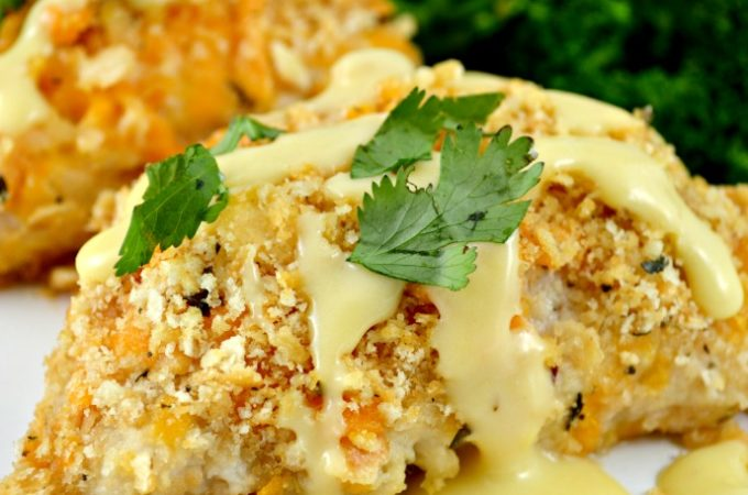 Crispy Oven Baked Ritz Cheesy Chicken