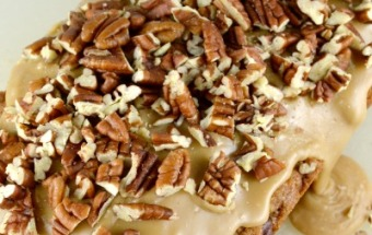 Apple Pecan Bread with Pecan Praline Glaze