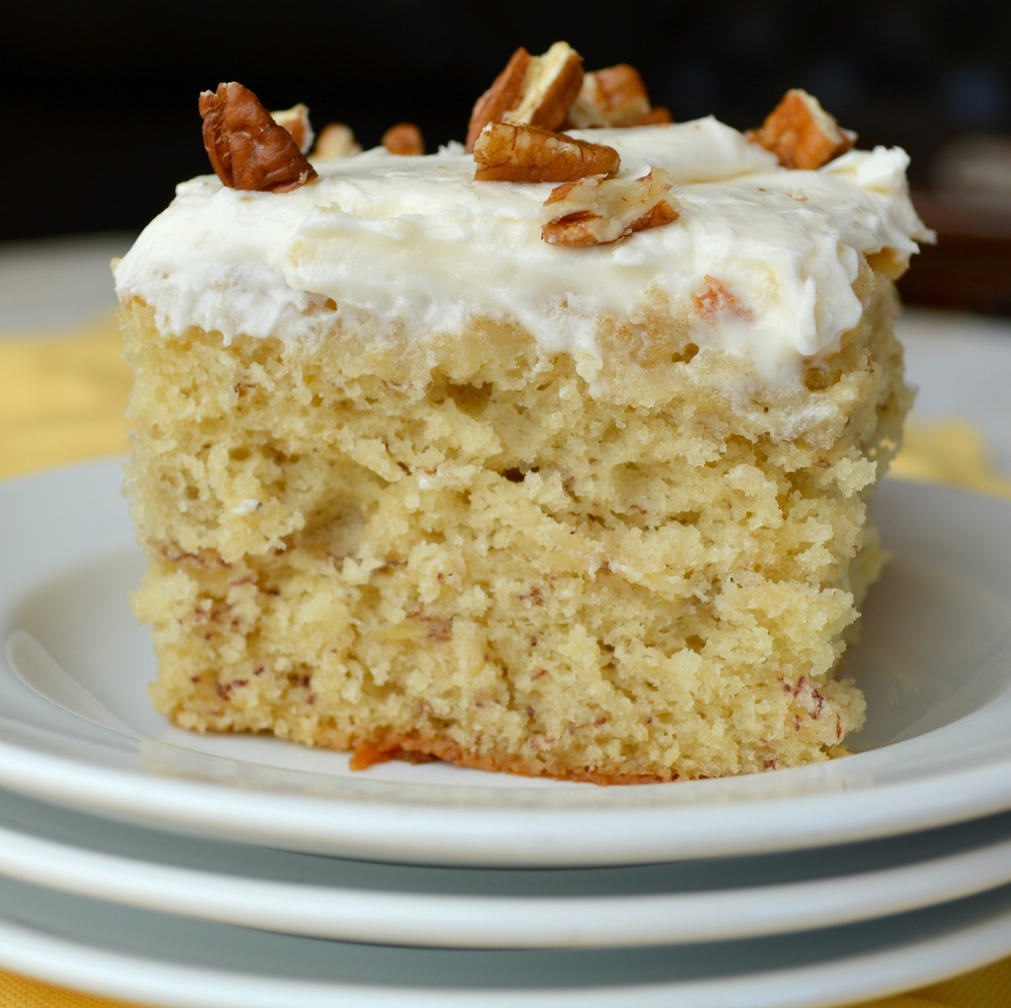 banana cake Eggless banana cake recipe with video and step by step photos – a one bowl cake recipe of delicious banana cake which is eggless as well as vegan a quick and easy recipe which gives light, soft and moist cake.