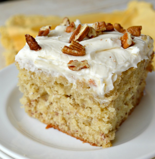 Banana Pudding Cake With Cream Cheese Icing