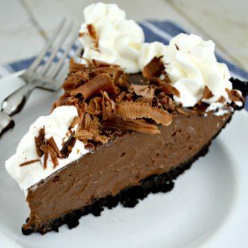 Decadent Chocolate Rum Pie
